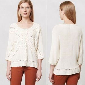 ANTHROPOLOGIE • ROSIE NEIRA Lerici Cable Knit